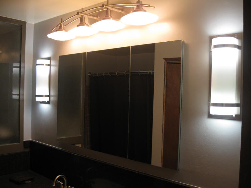 Medicine Cabinet and Lights