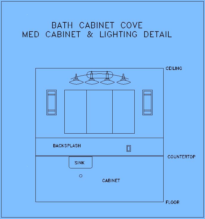 3 door medicine cabinet and lights