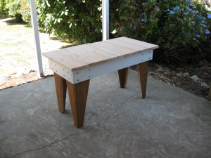 Outside work table dry fit