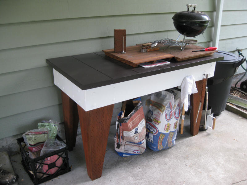 Outside cooking table
