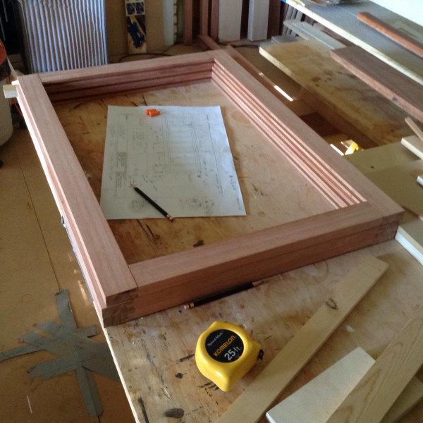 Lyptus quartersawn floating panel frame assembly