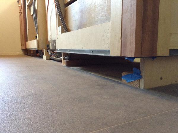 Lyptus Cabinet ready for toe kick