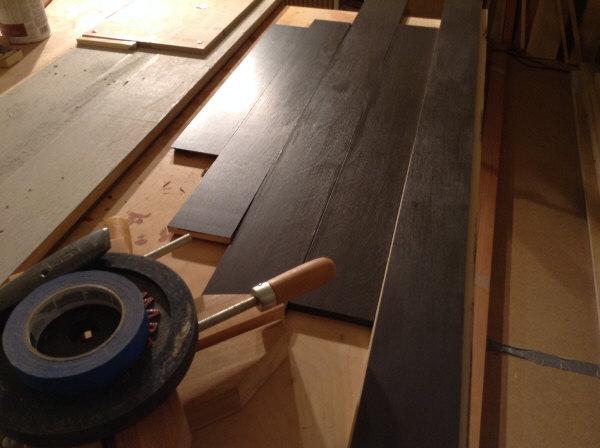 "1/4"" plywood toe kick surface application"